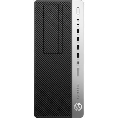 HP EliteDesk 800 G5 TWR i7 8GB RAM 256GB SSD Pc - Zwart, Zilver