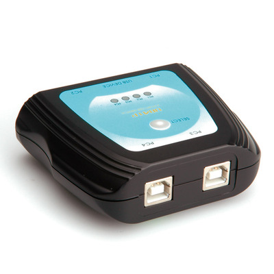 Value Manual USB 2.0 Printer, 4 Ports Switch - Zwart
