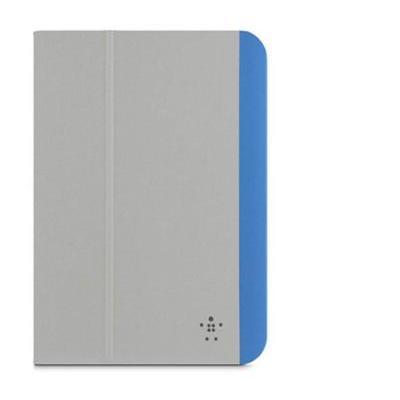 Belkin tablet case: iPad Mini Slim Style Grey Blue - Blauw, Grijs