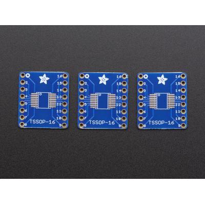 Adafruit : SMT Breakout PCB for SOIC-16 or TSSOP-16 - 3 Pack