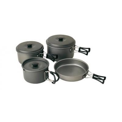 Campingaz pan set: Aluminium 8 piece Trekking Kit - Zwart
