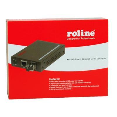 ROLINE Gigabit Converter, incl. GBIC, RJ-45-LC Media converter