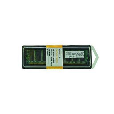 2-power RAM-geheugen: 512MB DDR 400MHz DIMM, Unbuffered - Groen