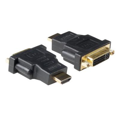 ACT Verloop adapter DVI-D female naar HDMI A male Kabel adapter - Zwart