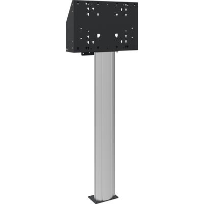 SmartMetals Vloerkolom 160cm hart flat panel, voor touch screen max. 120 kg TV standaard - Aluminium, Zwart