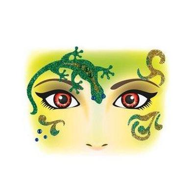 Herma sticker: Face Art Sticker Gecko - Geel