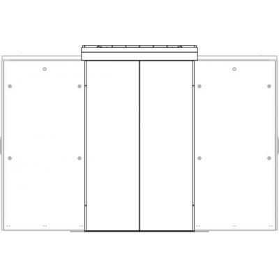 EFB Elektronik Wall for Cold/Warm Aisle 42U B=1200, Steel 2-part,RAL9005 Rack toebehoren - Zwart