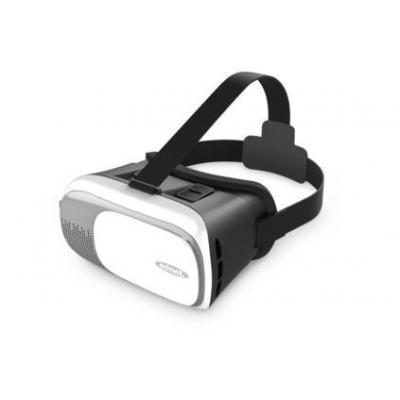 Ednet virtual reality bril: 87000 - Zwart, Grijs, Wit