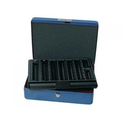 Beaumont geldkist: Cashbox with coinsorter blue - Blauw