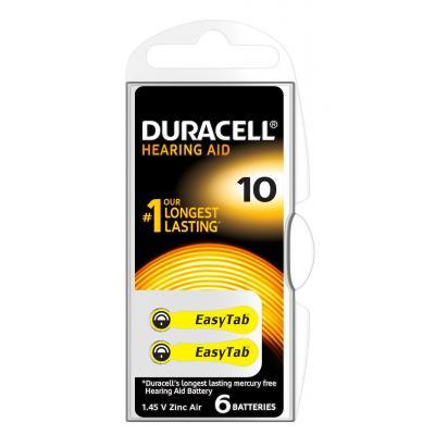 Duracell Hearing Aid-batterijen maat 10, verpakking van 6 batterij