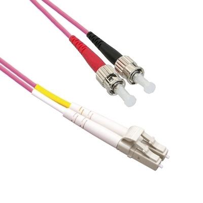 EECONN Glasvezel Patchkabel, 50/125 (OM4), LC - ST, Duplex, 15m Fiber optic kabel - Violet