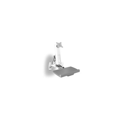 ICY BOX IB-MS600-W Monitorarm - Grijs, Zilver, Wit
