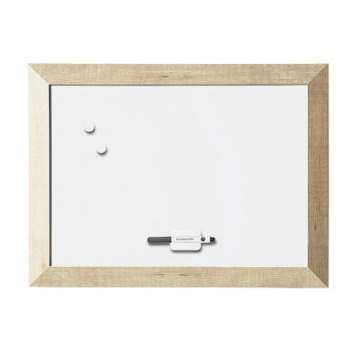 Bi-Office Kamashi Bianco, 600 x 450, Lacquered Steel Whiteboard - Wit, Hout