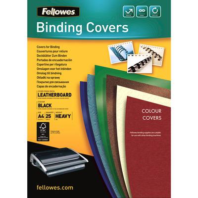 Fellowes Dekbladen leatherlook FSC Binding cover - Zwart
