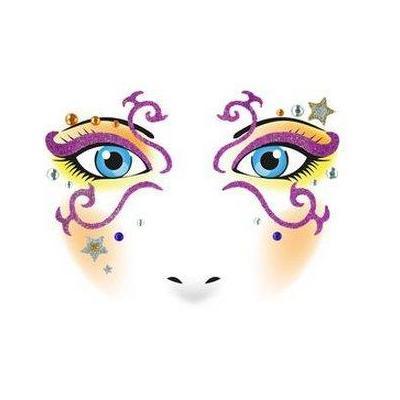 Herma sticker: Face Art Sticker Mystery - Beige, Paars