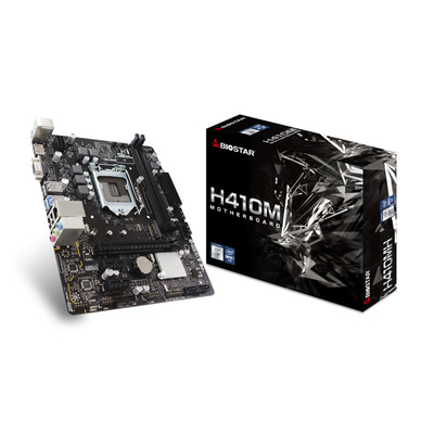 Biostar Intel H410, Socket 1200, 2x DDR4, SATA III, M.2, 1G LAN, USB 3.2, PS/2, VGA, HDMI, Micro ATX, 179x226 mm .....
