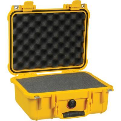 Peli Case W/Foam, Yellow Apparatuurtas - Geel