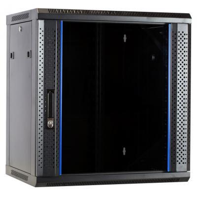 DS-IT 12U ongemonteerde wandkast met glazen deur 600x450x635mm Rack