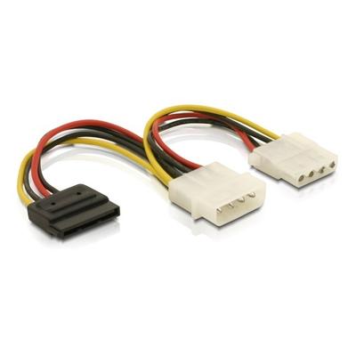 DeLOCK Cable Power SATA HDD > 2x 4pin male/female
