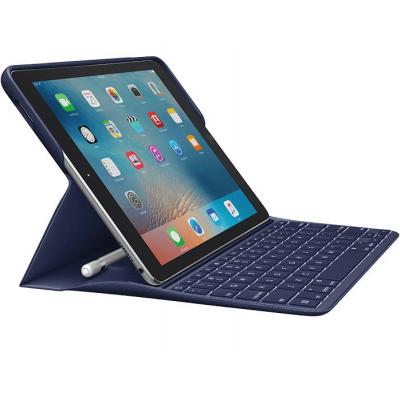 Logitech tablet case: Backlit Keyboard Case with Apple Pencil holder and Smart Connector for iPad Pro 9.7 inch - Blauw, .....