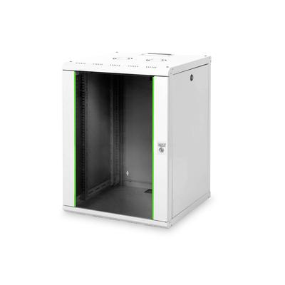 Digitus 16U wall mounting cabinet, Unique 820x600x600 mm, kleur grijs (RAL 7035) Rack