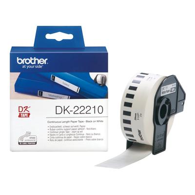Brother Doorlopende papiertape 29 mm Labelprinter tape - Wit