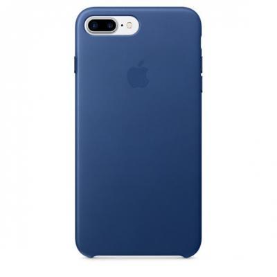Apple mobile phone case: Leren hoesje voor iPhone 7 Plus - Saffierblauw