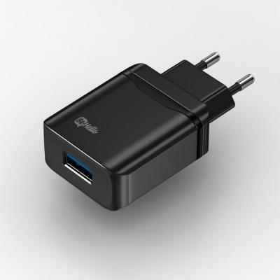 BeHello Travel Quick Charge, USB 3.0, Black Stekker-adapter - Zwart