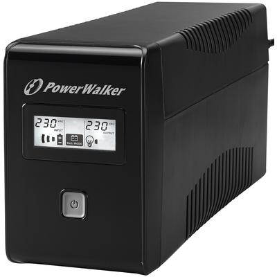 PowerWalker VI 650 LCD UPS - Zwart