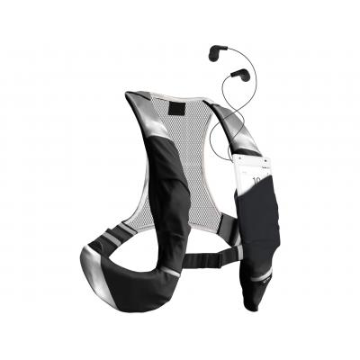 Sbs camera riem: Adjustable backpack straps, with smartphone pocket, ultra light and water resistant - Zwart, Grijs