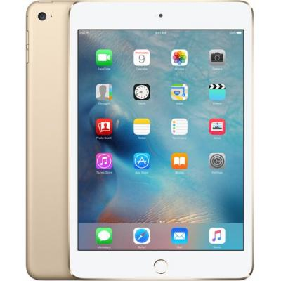 Apple tablet: iPad mini 4 Wi-Fi + Cellular 128GB - Gold - Goud (Approved Selection Budget Refurbished)