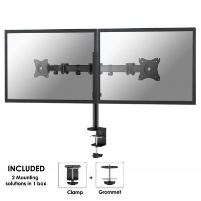 Newstar NM-D135DBLACK bureausteun voor 2 flat screens Monitorarm - Zwart