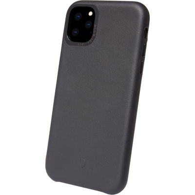Decoded Leather Backcover iPhone 11 Pro Max - Zwart - Zwart / Black Mobile phone case