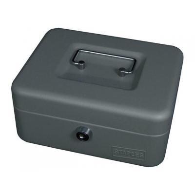Staples geldkist: Geldkist 88x200x160mm d.grijs