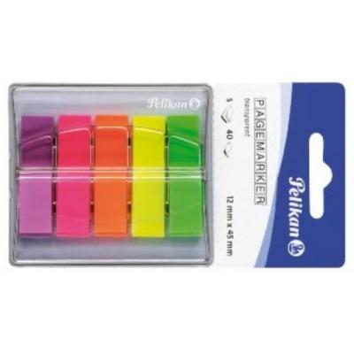 Pelikan bladwijzer: Pagemarker 132 - Groen, Oranje, Roze, Paars, Geel