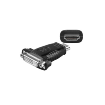 Microconnect 1 x DVI 24+1, 1 x HDMI 19, M/F Kabel adapter - Zwart