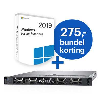 DELL PowerEdge R640 + Microsoft Windows 2019 Standard bundel Server - Zwart