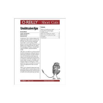 O'reilly boek: Media Unobtrusive Ajax - eBook (PDF)