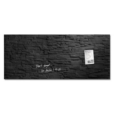 Sigel magnetisch bord: Glas-magneetbord, 130 x 55 cm - Zwart