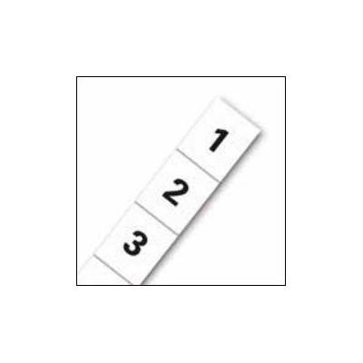 Eaton label: U-Height Labels - Bottom to Top (pair) - Zwart, Wit