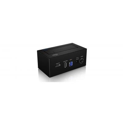 Icy box HDD/SSD docking station: IB-118U3-SPC - Zwart