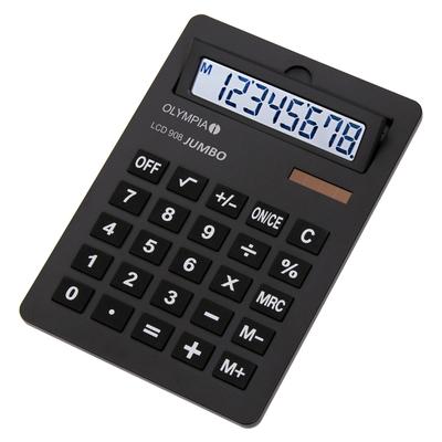 Olympia LCD 908 Jumbo Calculator - Zwart