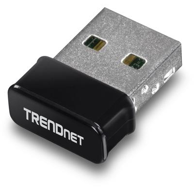 Trendnet USB 2.0, 150 Mbps, Bluetooth, WPA2, 2.400 - 2.483 GHz, 0.61W Netwerkkaart - Zwart