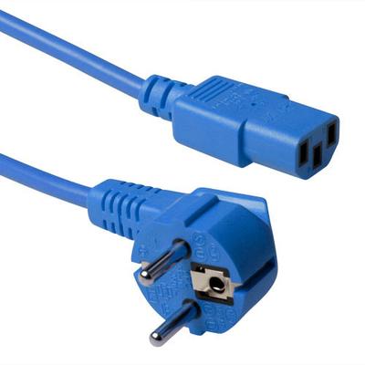 ACT Schuko - C13, 0.6m Electriciteitssnoer - Blauw