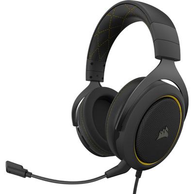 Corsair HS60 PRO STEREO Headset - Zwart, Geel
