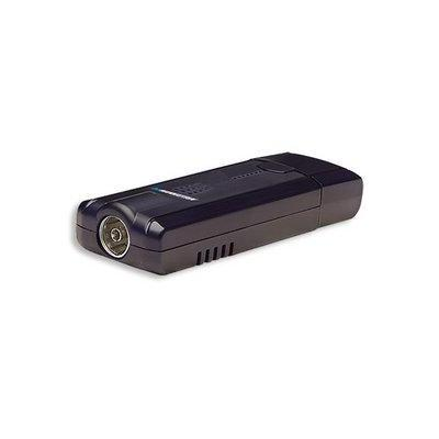 Manhattan TV tuner: 720x576, 30fps, PAL/SECAM/NTSC, USB 2.0, 28g, black - Zwart