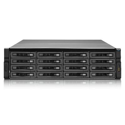 """Qnap SAN: 16x 3.5""""/2.5"""", SAS/SATA, HDD/SSD, 4x SAS 12Gbp/s, 3U, 650W, ATX Power Supply, 18.14kg - Zwart"""