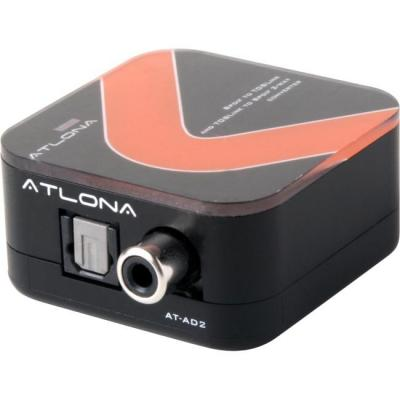 Atlona AT-AD-2 Toslink/Coaxial Audio converter - Zwart, Rood