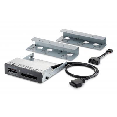 Hp smart kaart lezer: 15-in-1 USB2/3 3,5 mediakaartlezer - Zwart, Zilver