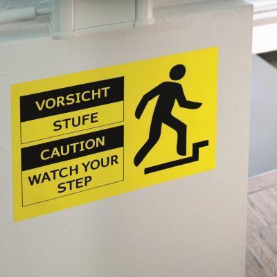 Herma etiket: Signs signalling hard-wearing A4 210x297 mm yellow strong adhesion film matt weatherproof 25 pcs. - Geel